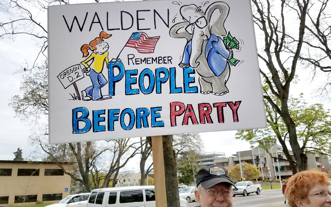 Rally to prepare for Greg Walden town hall